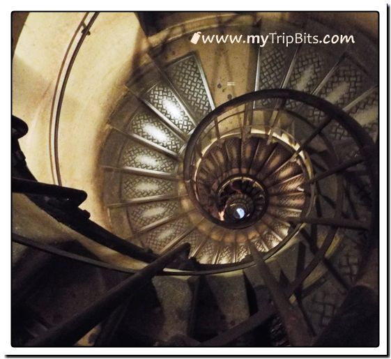 Stairway to Top of Arc de Triomphe